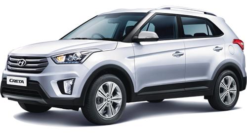 Car rental in Goa - Book Hyundai Creta for self drive